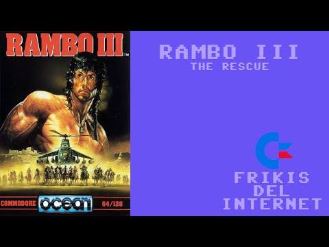 Rambo III - The rescue (c64) - Walkthrough comentado (RTA)