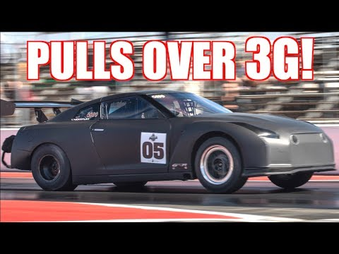 2500HP GTR Pulls Over 3.5G (G-Force) | 60-130MPH 1.59s | Shreds Tire on 207MPH Run!