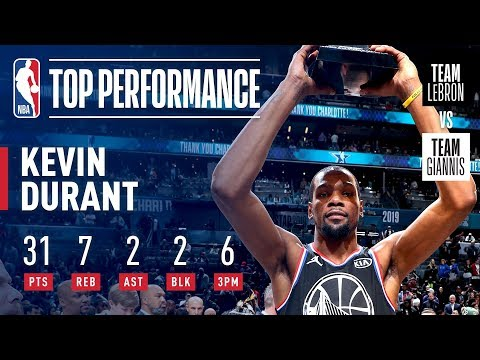 Kevin Durant Takes Home KIA All-Star Game MVP Honors!   2019 NBA All-Star