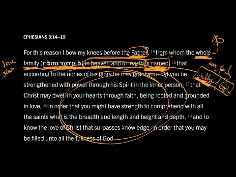 Ephesians 3:1419 // Part 2 // The Family of God inHeaven and on Earth