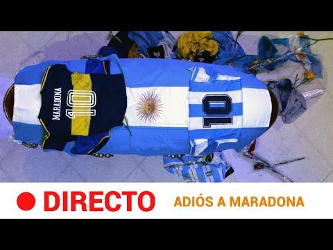 EN DIRECTO 🔴 La capilla ardiente de MARADONA se instala en la CASA ROSADA   RTVE Noticias