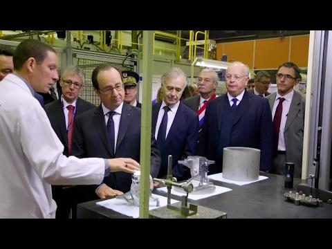 François Hollande visits Safran site in Montluçon