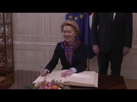 President von der Leyen meets with Andrej Plenkovic, Croatian Prime Minister photo