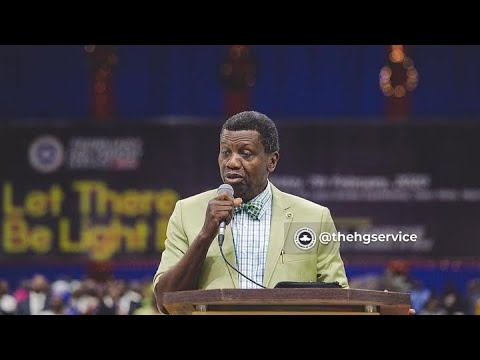 PASTOR E.A ADEBOYE SERMON  LET THERE BE LIGHT HOLY COMMUNION
