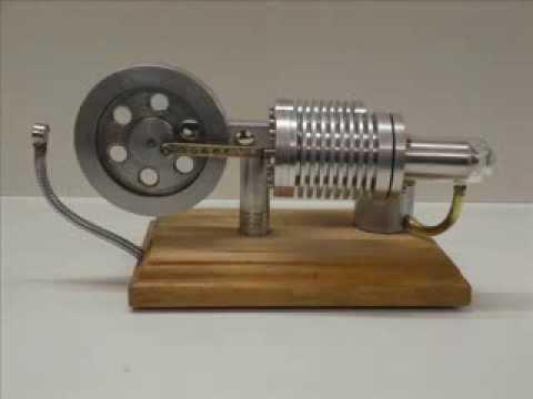 Stirling Engine KK1 (Slow motion with neodymium magnet) - UCtGy1gri1Q9u3bli3ukgjIw