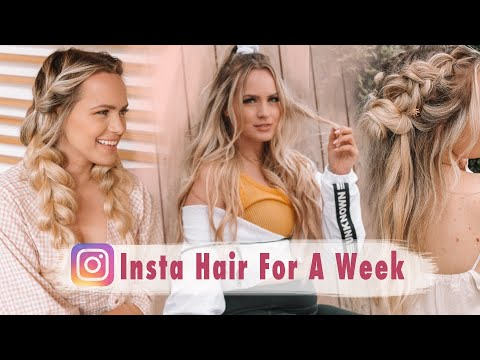 I Tried Instagram Hairstyles for A Week! - Kayley Melissa