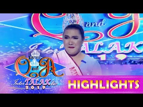It's Showtime Miss Q & A: Adora becomes the new Miss Q and A InterTALAKtic 2019 reigning queen.