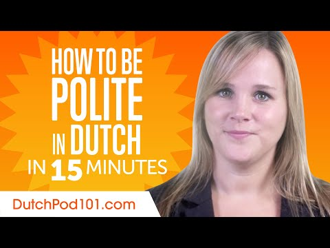 Good Manners: What to Do and Say in Dutch? photo