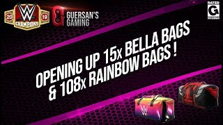 Opening up 15x bella Bags & 108x Rainbow Bags / WWE Champions 💼