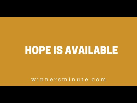 Hope Is Available // The Winner's Minute With Mac Hammond