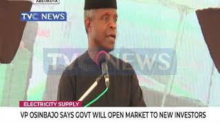 VP Osinbajo promises Govt would open electricity supply market to new investors