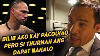 Juan Manuel Marquez TALO daw dapat si PACQUIAO kay THURMAN? | Dapat Mag RETIRO na si Pacman?