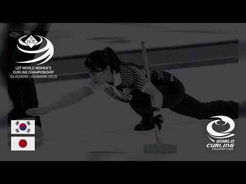Korea v Japan - round robin - LGT World Women's Curling Championships 2019