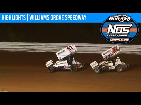World of Outlaws NOS Energy Drink Sprint Cars Williams Grove Speedway October 2, 2020 | HIGHLIGHTS - dirt track racing video image
