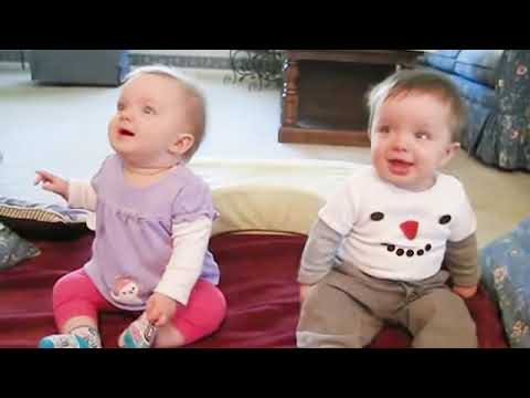 Cute Twins Babies   The Cutest and Funniest Video You'll See Today
