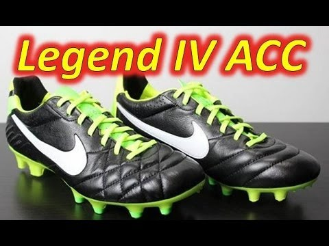 db4c8eea970d5 Soccer Reviews For You - Channel. Video Nike Tiempo Legend IV ACC  Black Electric Green White - Unboxing + On Feet