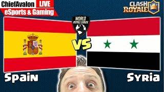LIVE Sat, Aug 17: Clash Royale - WRL: 𝗦𝗽𝗮𝗶𝗻 vs 𝗦𝘆𝗿𝗶𝗮