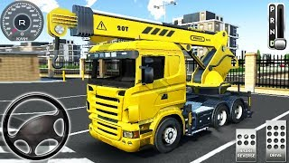Drive Simulator 2 - Construction Vehicles: Cement Mixer, Mobil Crane Truck - Android GamePlay #12