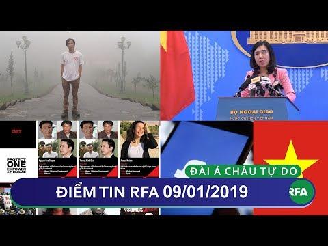 Điểm tin RFA tối 09/01/2019 | Facebook phản bác cáo buộc vi phạm Luật An Ninh Mạng của Việt Nam