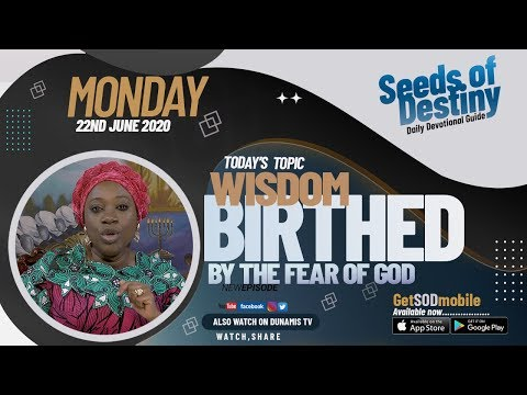 Dr Becky Paul-Enenche - SEEDS OF DESTINY  MONDAY JUNE 22, 2020