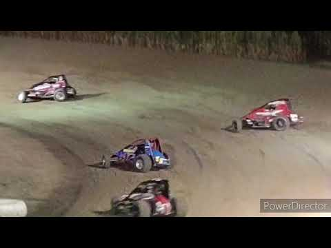 Great Lakes Traditional Sprints A-Main - I-96 Speedway - 9-3-2021 - dirt track racing video image