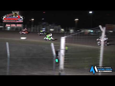 River Cities Speedway NOSA Sprint Car A-Main (6/18/21) - dirt track racing video image