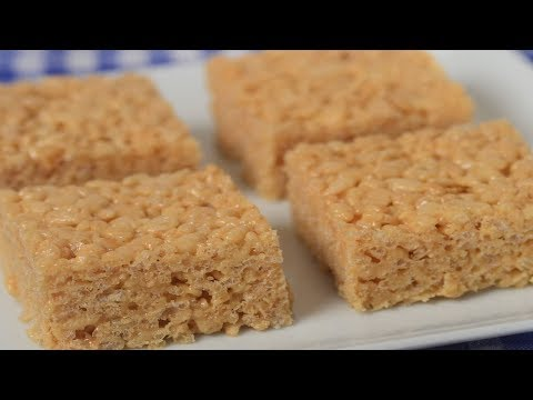 Peanut Butter Rice Krispies Treats Recipe Demonstration - Joyofbaking.com - UCFjd060Z3nTHv0UyO8M43mQ