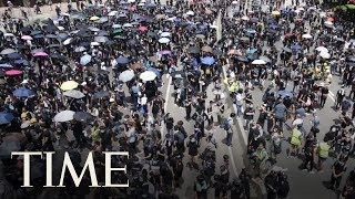 Escalating The Campaign Into A Political Freedom Push, Protesters Take To Hong Kong Streets | TIME