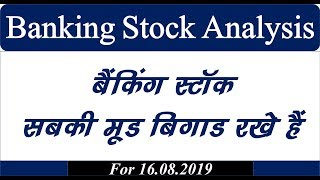 Banking stock analysis 16.08.2019 #nifty #banknifty #mtech