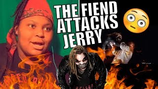 """Bray Wyatt The Fiend attacks Jerry """"The King"""" Lawler Reaction"""