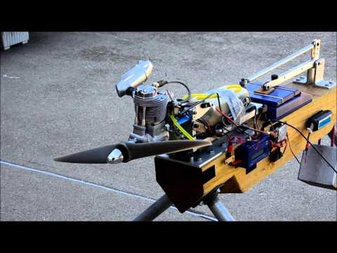 RC Sport Flyer Thrust Test - O S  GF40 Four-stroke Gasoline