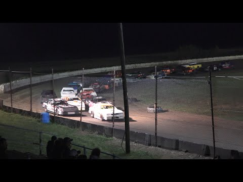 Street Stock A-Feature at Mid Michigan Raceway Park, Michigan, on 10-02-2021!! - dirt track racing video image