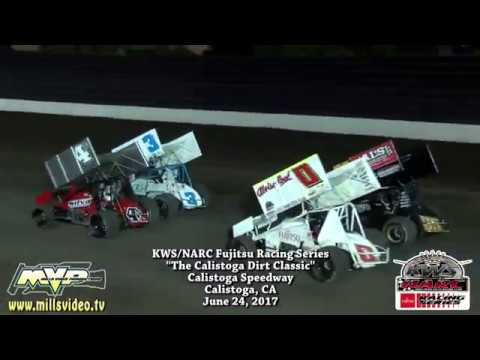 KWS-NARC @ CALISTOGA SPEEDWAY - JUNE 24, 2017 - dirt track racing video image
