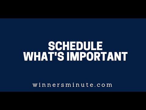 Schedule Whats Important  The Winner's Minute With Mac Hammond