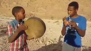 Two Talented Amazigh Children Show Off Their Musical Skills