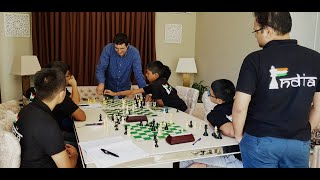 Food and rest come second, chess is first at the Kramnik Training camp!