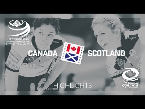 HIGHLIGHTS: Canada v Scotland - round robin - LGT World Women's Curling Championship 2019