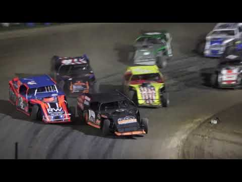 I.M.C.A B-Feature #1 at Crystal Motor Speedway, Michigan on 09-18-2021!! - dirt track racing video image