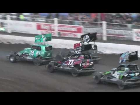 Also called Superstocks in Paradise : the winner of the 3 Heats gets automatic qualification to next years event - dirt track racing video image
