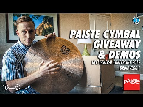 FREE CYMBAL GIVEAWAY!! // UPCI GC 2019 Drum Vlog 1
