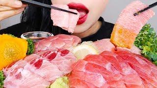 ASMR TUNA 참치회 먹방 *RAW FISH* NO TALKING EATING SOUNDS MUKBANG KOREAN