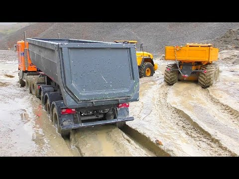 RC Vehicles Work in the Mud! Best R/C Construction Site! RC Trucks Extreme! - UCT4l7A9S4ziruX6Y8cVQRMw