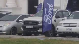 January 23, 2019 Company ford picks up a car for a test drive at Prem Mea Sen Sok City