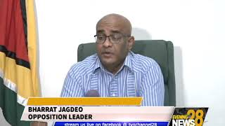 JAGDEO ACCUSES PRESIDENT OF DELAYING GECOM CHAIR APPOINTMENT
