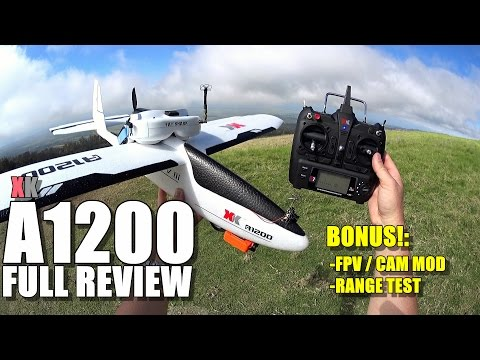 FTC HUNTER FPV Delta Wing Flight Test Review - Mods - Crash