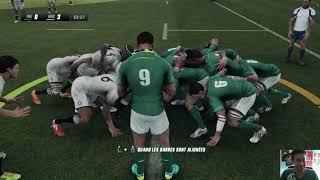 ANGLETERRE - IRLANDE sur Rugby Challenge 3 en multi