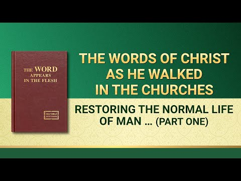 Restoring the Normal Life of Man and Taking Him to a Wonderful Destination (Part One)