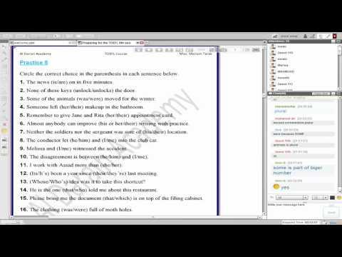 أكاديمية الدارين | TOEFL| محاضرة 6