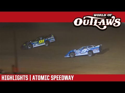 World of Outlaws Craftsman Late Model Series Feature Event Highlights from the Atomic Speedway in Waverly, Ohio on September 28, 2018.  For more information and full results: www.woolms.com For extended race highlights: www.DirtonDirt.com - dirt track racing video image