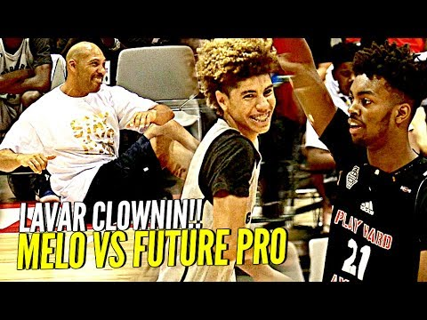 LaMelo Ball TRIPLE DOUBLE vs Future NBA Pro Jordan Brown! LaVar CLOWNIN! BBB vs TOUGH Adidas Comp! - UC_zgOsTPdML6tol9hLYh4fQ